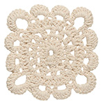 Natural Crocheted Coasters