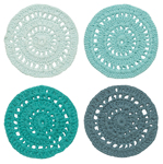 Cascade Crochet Coasters <br> Set of 4