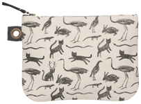Secret Garden Large Zipper Pouch