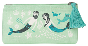 Sea Spell Pencil Cosmetic Bag