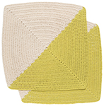 Angle Crochet Dishcloths <br> Set of 2 Citrine