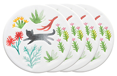 Secret Garden Ceramic Coasters <br> Set of 4