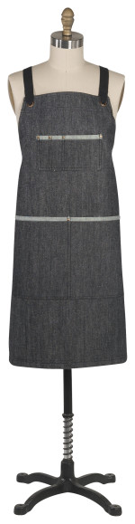 Sawyer Apron - Black Denim