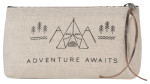 Adventure Awaits Pencil Cosmetic Bag