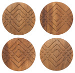 Facet Geo Coasters <br> Set of 4