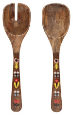 Frida Mango Wood Salad Servers Set