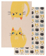 Meow Meow Dishtowels <br> Set of 2