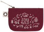 Stay Wild Small Zipper Pouch