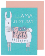 Llamarama Greeting Card