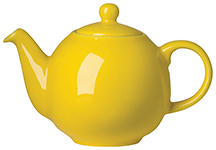 Yellow Globe Teapot ,br> 2-Cup