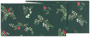 13x72 in Forest Birds Printed Table Runner