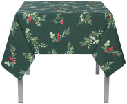 60x90 in Forest Birds Printed Table Cloth