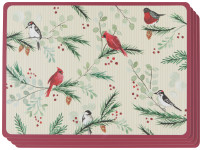 Forest Birds Cork-Backed Placemats Set of 4