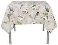Chickadee Tablecloth <br> 55 x 55 inch