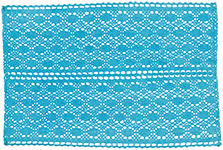 Blue Crochet Placemat