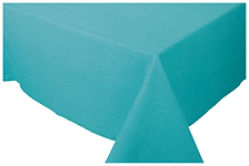 Turquoise Spectrum Tablecloth <br> 55 x 55 inch