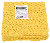 Lemon Homespun Crochet Dishcloths <br> Set of 2