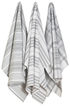 London Gray Jumbo Dishtowels <br> Set of 3 <br>