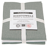 London Gray Floursack Dishtowels <br> Set of 3