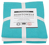 Bali Blue Floursack Dishtowels <br> Set of 3