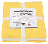 Lemon Floursack Dishtowels <br> Set of 3