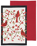 Cardinals Dishtowels  <br>  <br> Set of 2