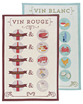 Wine Pairings Dishtowels <br> Set of 2