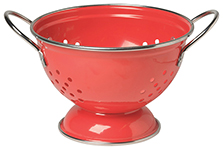 Red 1 Qt Metal Colander