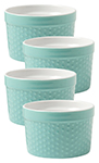 Surf Blue Dot Ramekin Dot Set/4
