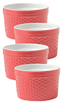Red Dot Ramekin Dot Set/4