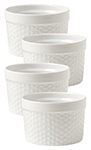 White Dot Ramekin Dot Set/4