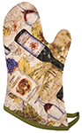 Wine Labels Oven Mitt