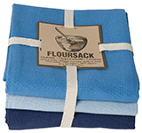 Indigo/Moonlight/Cool Blue Floursack Dishtowels <br> Set of 3