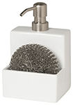 White Soap & Scrub Soap Dispenser
