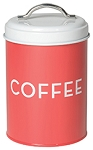 Red Coffee Tin