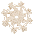 Snowflake Crochet Coasters <br> Set of 4