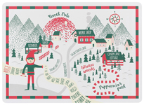 North Pole Cork-Backed Placemats <br> Set of 4