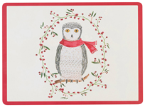 Snowy Owl Cork-Backed Placemats <br> Set of 4