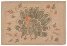 County Turkey Burlap Placemat