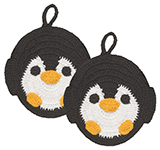 Tawashi Scrubbers - Peter Penguin<br> Set of 2