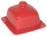 Red Square Butter Dish