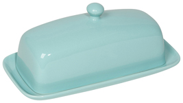 Eggshell Rectangular Butter Dish <br>