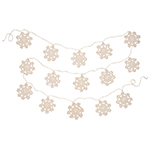 Snowflake Garland Natural