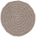 Knotted Placemat Gray
