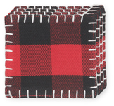Buffalo Check Coasters <br> Set of 4
