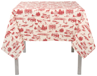 Holiday Toile Tablecloth <br> 60 x 90 inch