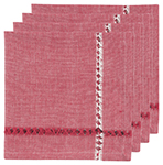 Tangier Red Napkins <br> Set of 4