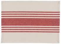 Chili Canvas Stripe Placemat