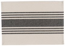 Black Canvas Stripe Placemat