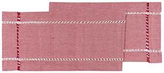 Tangier Knotted Woven Runner Red